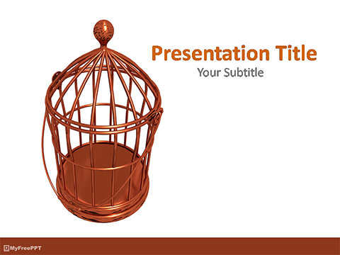 Bird Cage PowerPoint Template
