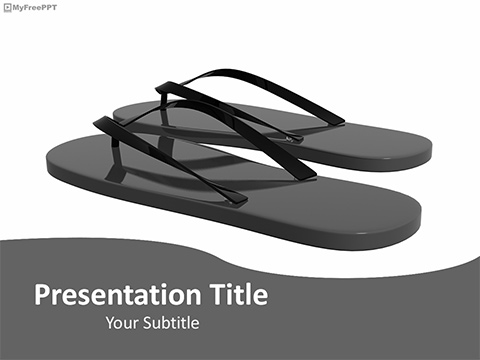 Black Slippers PowerPoint Template