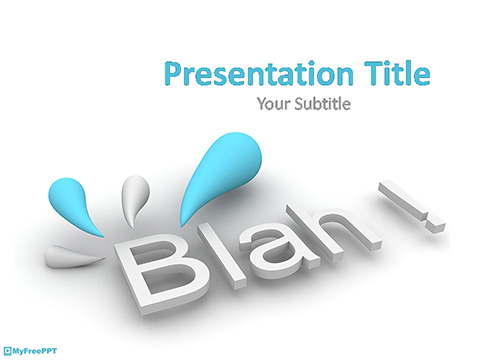 Blah PowerPoint Template