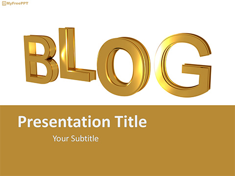 Free Blog PowerPoint Template