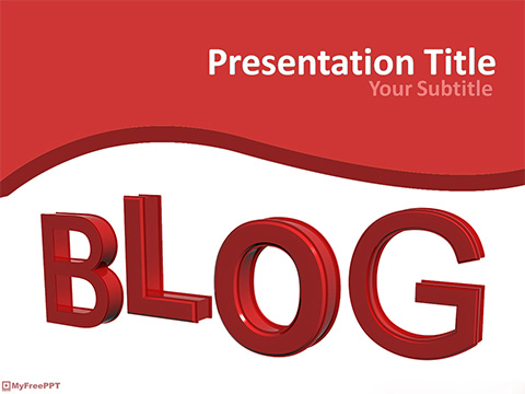 Blogging PowerPoint Template
