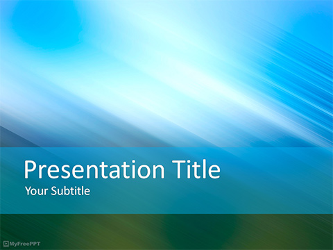 Free Blurred Background PowerPoint Template