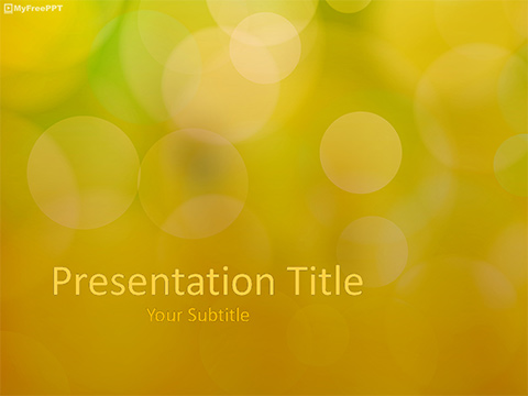 Free Bokeh Lights PowerPoint Template