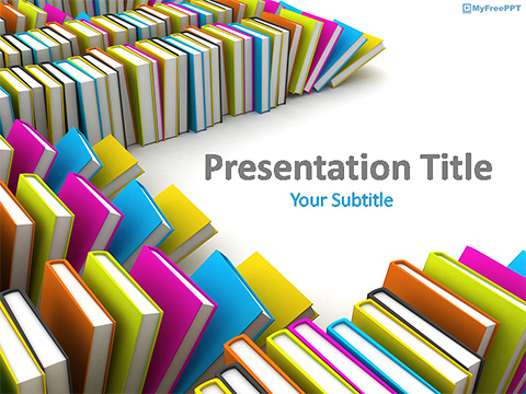 Free Books Library PowerPoint Template
