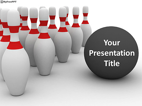 Bowling Game PowerPoint Template