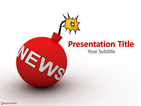 Free Breaking News PowerPoint Template