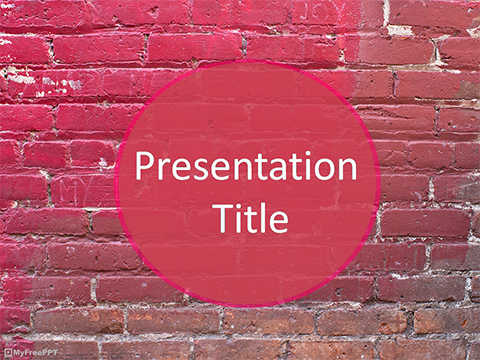 Free Brick Wall PowerPoint Template