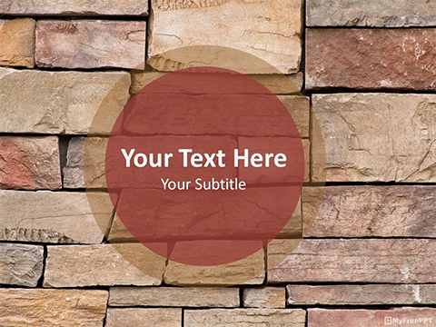 Free Bricks Wall PowerPoint Template