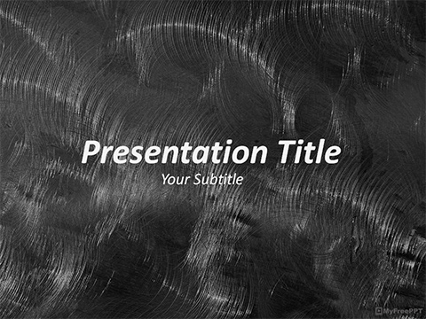 Free Brushed Metal PowerPoint Template