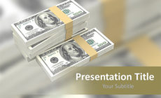 Free Bundle of Dollars PowerPoint Template