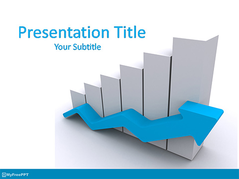 Free Business Growth Graph PowerPoint Template