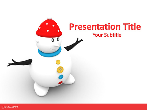 Cartoon Snowman PowerPoint Template