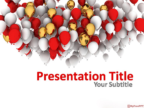 Free Celebration Balloons PowerPoint Template
