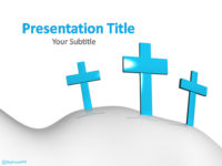 Free Christian Cross PowerPoint Template