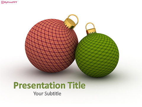 Free Christmas Balls PowerPoint Template