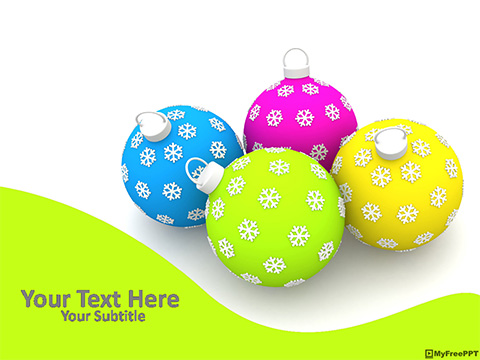 Free Christmas Baubles PowerPoint Template