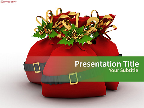 Free Christmas Gift Bags PowerPoint Template
