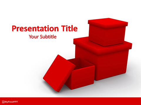 Free Christmas Gifts Boxes PowerPoint Template