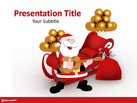 Free Christmas Santa PowerPoint Template