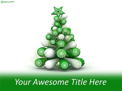 Free Christmas Tree Made of Balloons PowerPoint Template