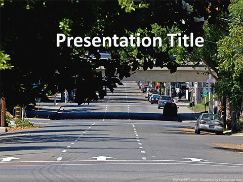 Free City Road PowerPoint Template
