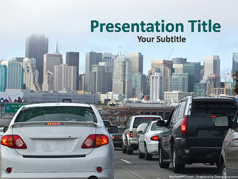 Free City Transport PowerPoint Template