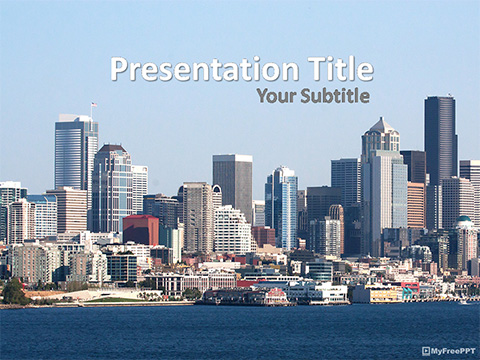 Free City of Seattle PowerPoint Template