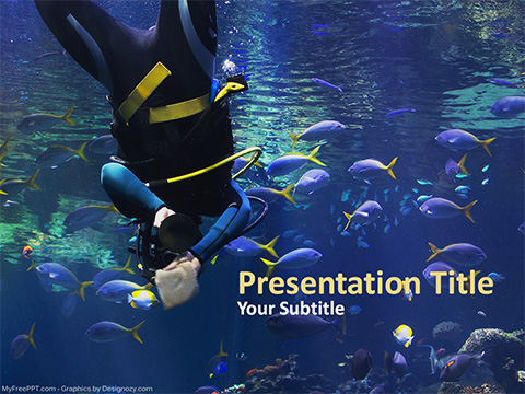 Cleaning Aquarium PowerPoint Template
