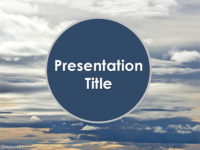 Free Sky Clouds PowerPoint Template