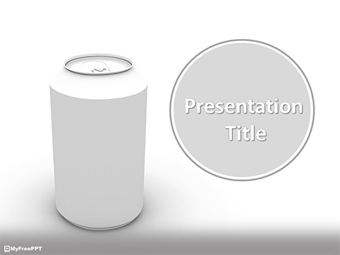 Free Cold Drink Can PowerPoint Template