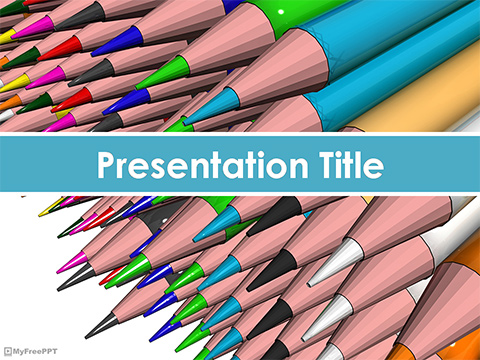 Free Color Pencils PowerPoint Template