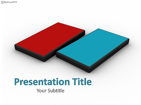 Free Colored CD Cover PowerPoint Template
