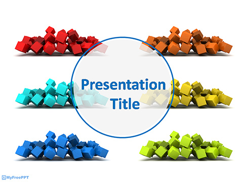 Colorful 3d Cubes PowerPoint Template