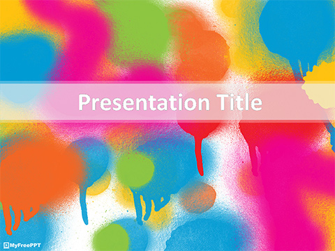 Free Colorful Spray PowerPoint Template