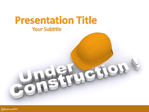 Construction Information PowerPoint Template