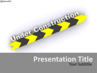 Free Construction Banner PowerPoint Template