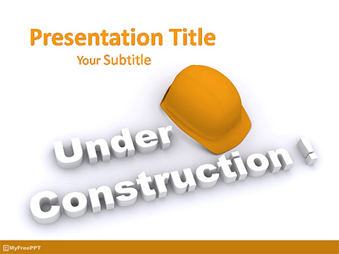 Free Construction Site PowerPoint Template