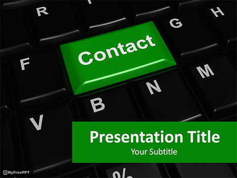 Free Contact PowerPoint Template
