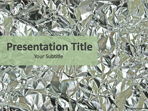 Creased Foil Paper PowerPoint Template