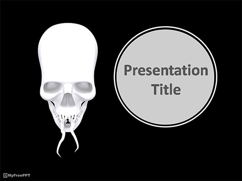 Free Creepy Skull PowerPoint Template