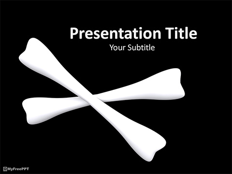 Free Cross Bones PowerPoint Template