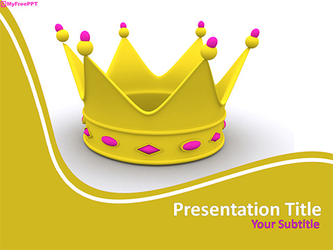 Free Crown PowerPoint Template