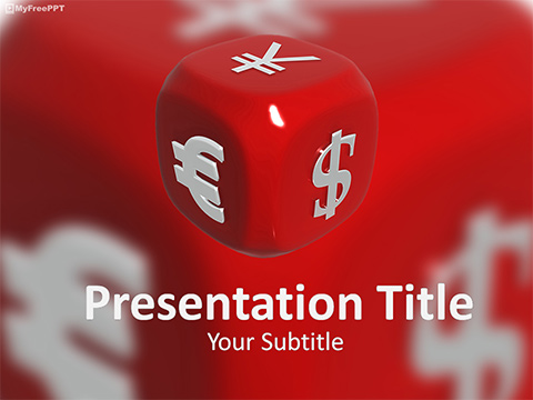 Currency Dice PowerPoint Template