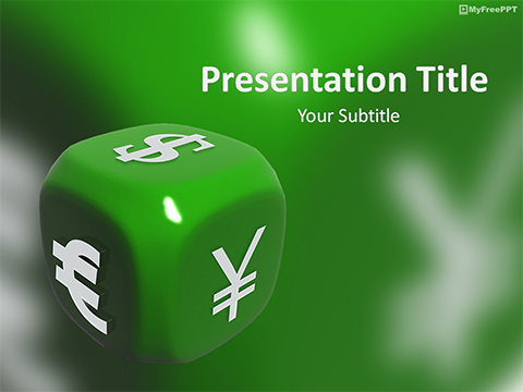 Free Currency Symbol Dice PowerPoint Template