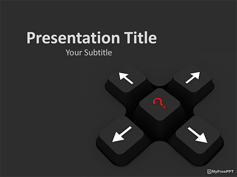Free Cursor Keys PowerPoint Template