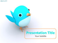 Free Cute Bird PowerPoint Template