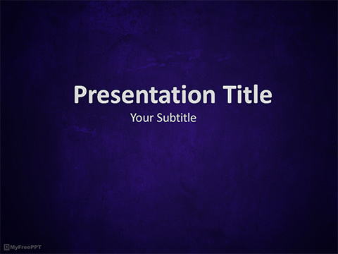 Free Dark Blue Surface PowerPoint Template