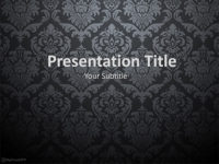 Free Dark Damask PowerPoint Template