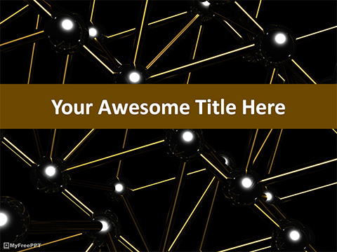 Dark Molecules PowerPoint Template