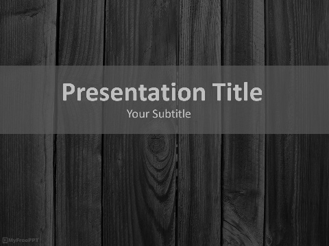 Free Dark Wood Plank Powerpoint Template Download Free